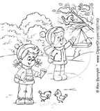 photos of Bird Feeder Coloring Page