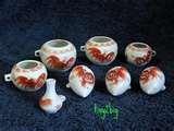 Ceramic Bird Feeder Cups pictures