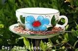 images of Tea Cup Bird Feeder Tutorial