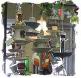 Bird Feeders From Old Dishes pictures